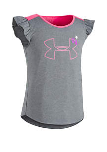 Under Armour® Girls 2-6x Big Logo Patches Tank