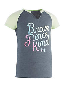Under Armour® Girls 2-6x Brave Fierce Kind Short Sleeve Tee