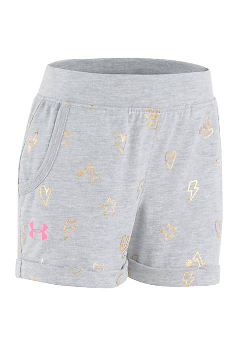 Under Armour® Girls 4-6 Number One Shorts