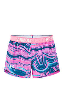 Under Armour® Girls 4-6x Agate Swirl Play Up Shorts