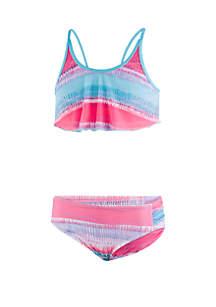Under Armour® Girls 7-16 Grazer Flutter Swim 2 Piece Bikini