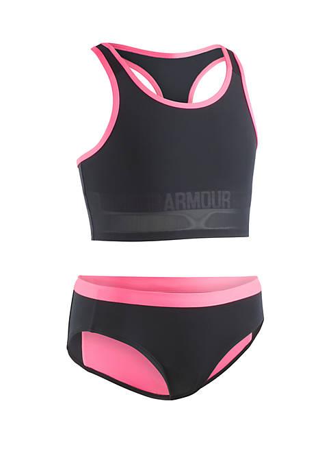 Girls 7-16 UA Racer 2 Piece Midkini Swimsuit