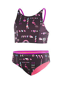 Under Armour® Girls 7-16 Best Life Reversible Swim Midkini