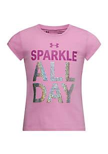 Under Armour® Girls 4-6x UA Sparkle All Day Short Sleeve T Shirt