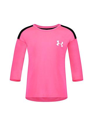 Under Armour Girls 3//4 Sleeve Tee Shirt