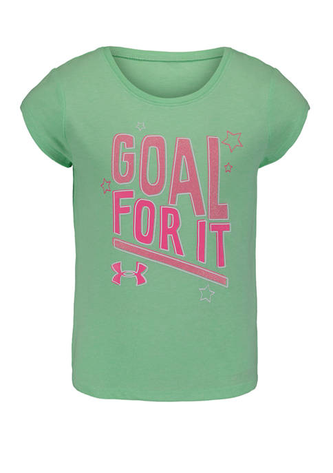 Girls 4-6x Goal For It Graphic T-Shirt