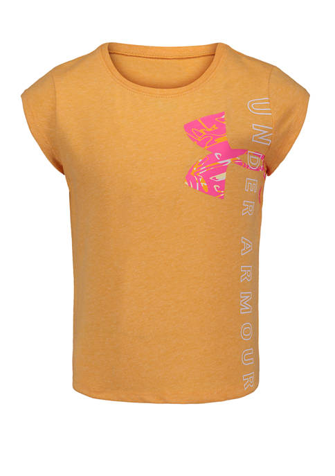 Under Armour® Girls 4-6x Short Sleeve Wordmark Graphic