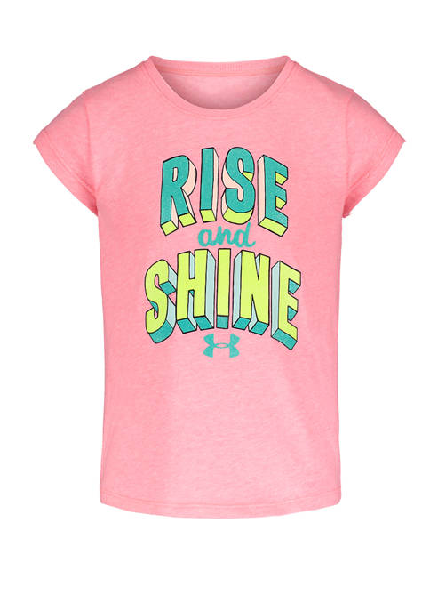 Under Armour® Girls 4-6x Short Sleeve Rise and