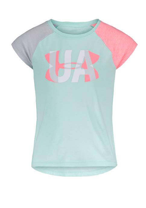 Under Armour® Girls 4-6x Short Sleeve Sheer Logo