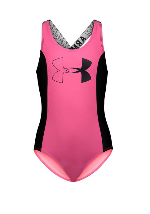 Under Armour® Girls 4-6x Color Block One Piece