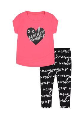 Under Armour Girls Girls 4-6X Heart Wordmark Set