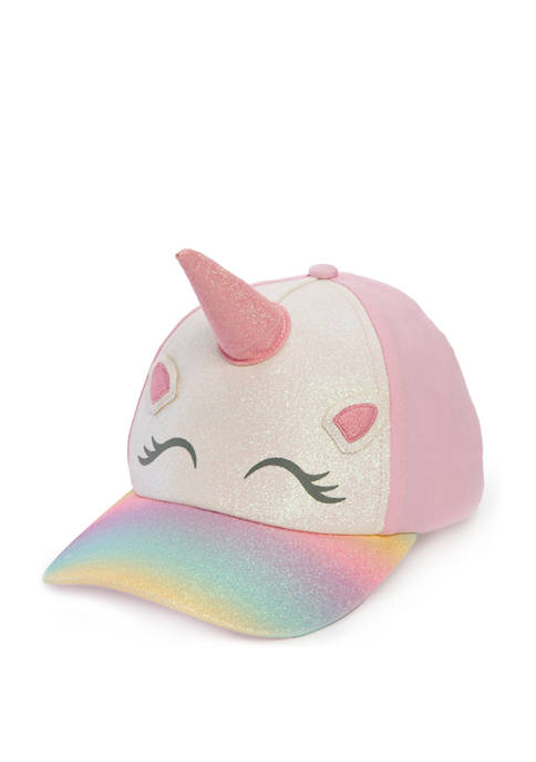 Capelli New York Girls 3D Unicorn Baseball Hat