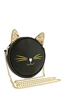 Cross Body Round Kitty Bag