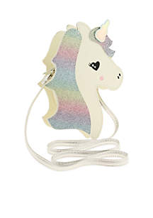 GIrls Unicorn Cross Body with Glitter
