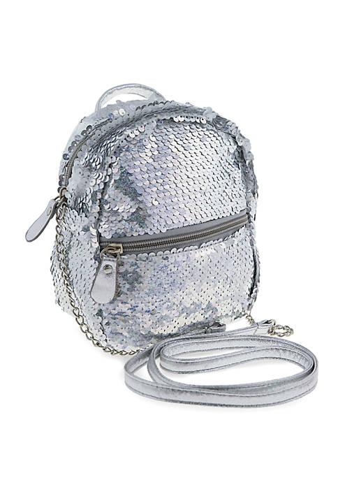 3f0526fdaf Capelli New York Girls Reverse Sequin Cross Body Mini Backpack