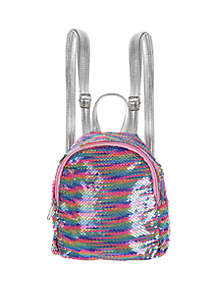 Capelli New York Reverse Glitter Sequin Mini Backpack