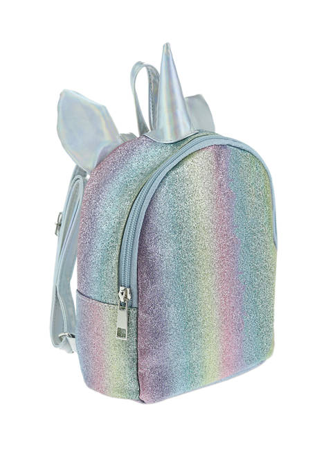 Girls Unicorn Glitter Mini Backpack