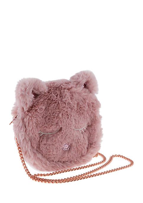 Capelli New York Faux Fur Kitty Crossbody Bag
