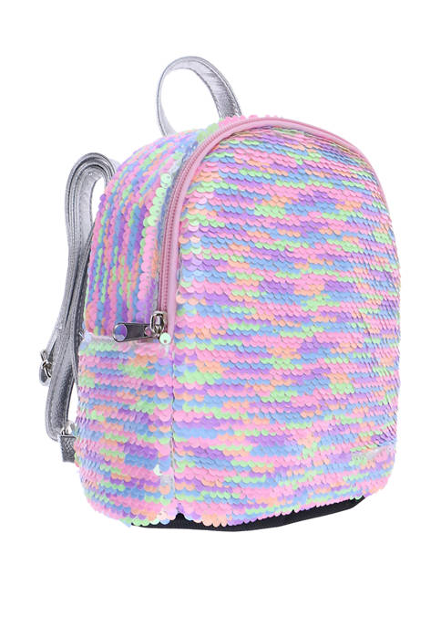 Capelli New York Girls Reverse Sequin Mini Backpack