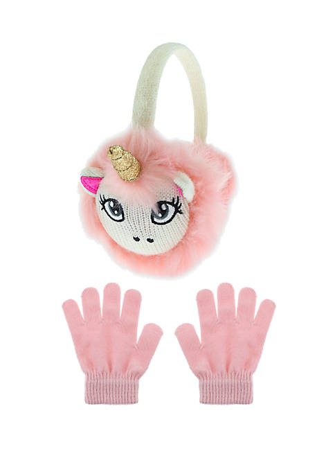 Capelli New York Girls 7-16 Unicorn Earmuff and
