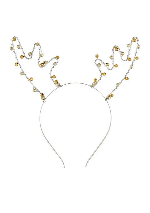 Capelli New York Girls Metal Reindeer with Jingle