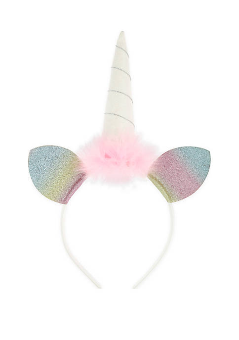 Capelli New York Girls Unicorn Headband with Horn