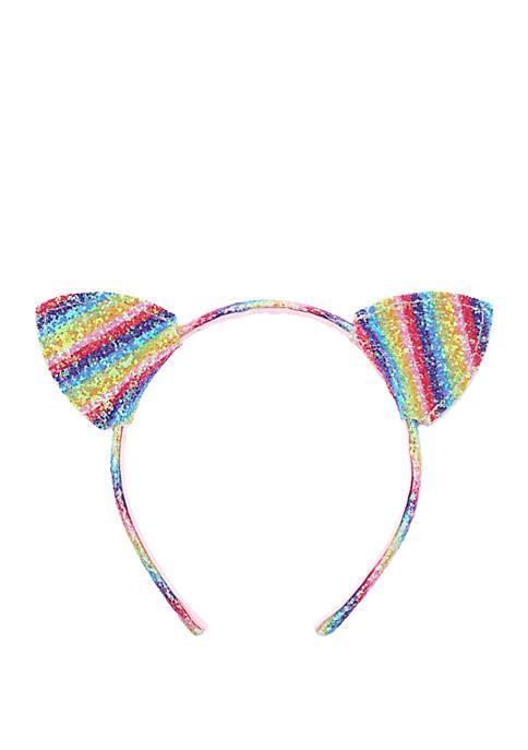 Capelli New York Girls Rainbow Cat Ear Headband