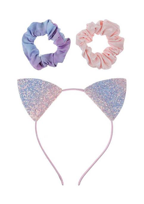Capelli New York Ombré Glitter Cat Ear Headband