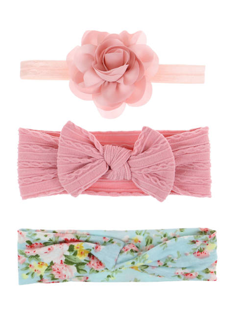 Capelli New York Girls Floral Wrap Headband Set