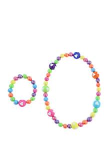 Capelli New York Toddler Girls Stretch Necklace and Bracelet Set