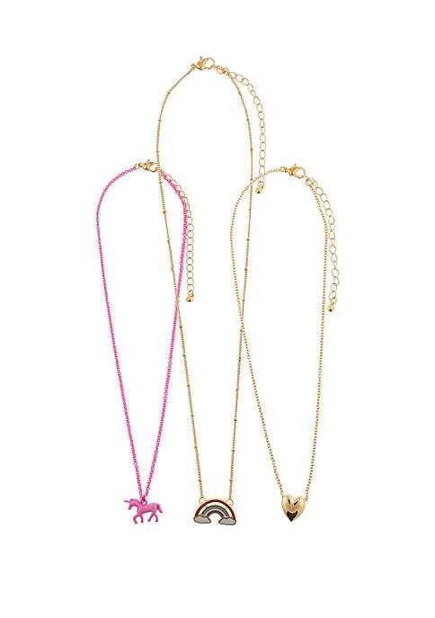 Capelli New York Girls 4-6x Unicorn Rainbow Charm