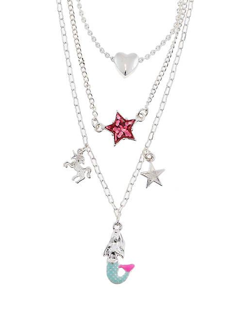 Girls 4-6x Unicorn Mermaid Layered Necklace Set