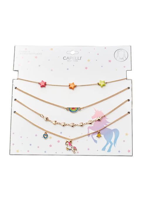 4 Piece Necklace Set