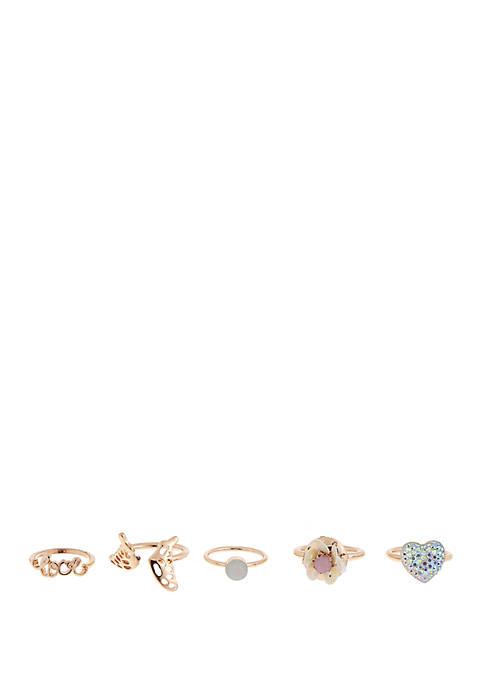 Capelli New York Girls 4-6x Eiffel Tower Ring