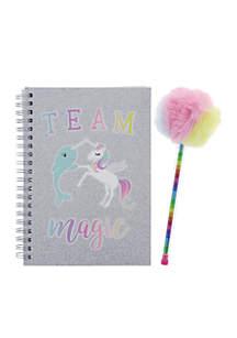 Team Magic Soft Boa Notebook Pom Pom Set