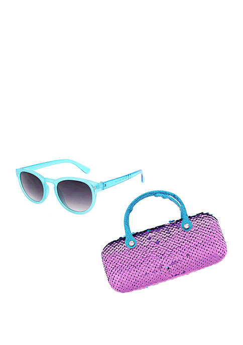 Capelli New York Girls Turquoise Sunglasses with Reverse