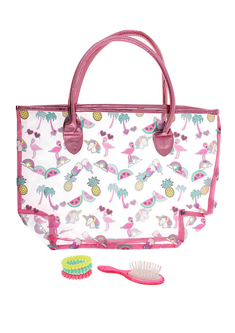 Summer Icons Tote, Mini Brush and Coil Set