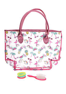 Capelli New York Summer Icons Tote, Mini Brush and Coil Set