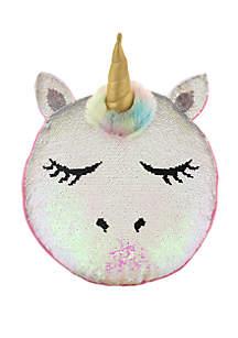 Capelli New York Girls Reverse Sequin Unicorn Pillow