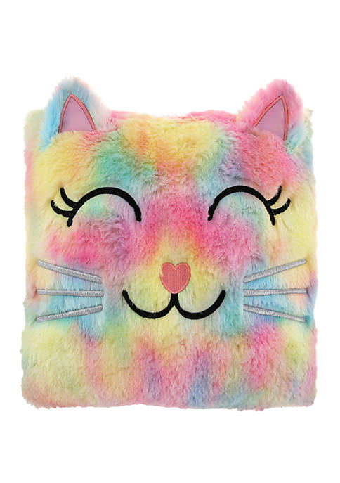 Capelli New York Girls Square Multicolored Kitty Pillow