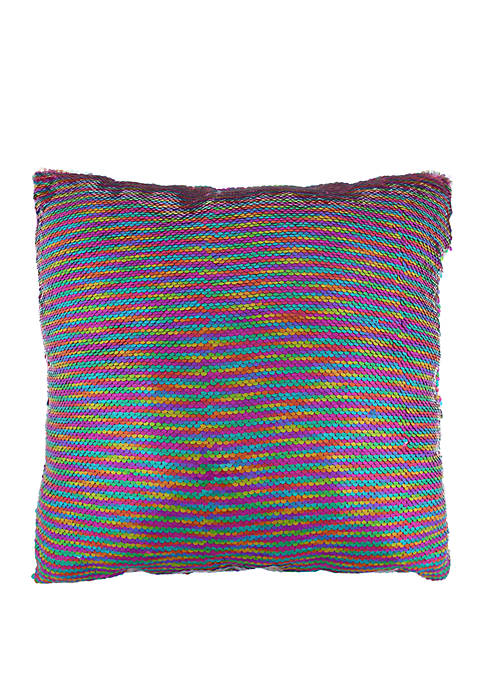 Capelli New York Girls Reverse Sequin Glitter Pillow