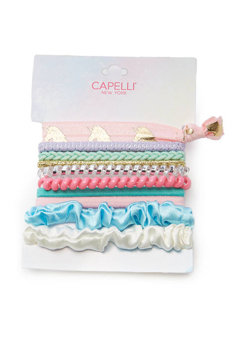 10 Piece Cord Mixed Ponytail Holders