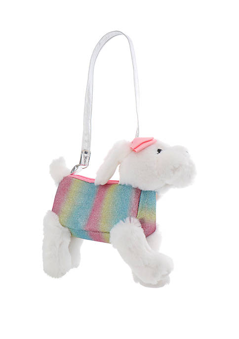 Capelli New York Girls 4-6x Rainbow Puppy Plush