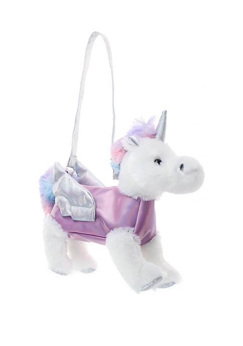 Girls Pegasus Pink Plush Bag