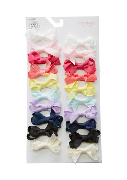 Capelli New York Baby Girls Bow Pack