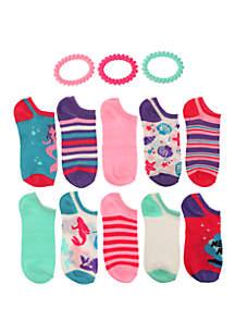 44ae685ac ... Capelli New York Girls 7-16 Mermaid Magic No Show Sock Set