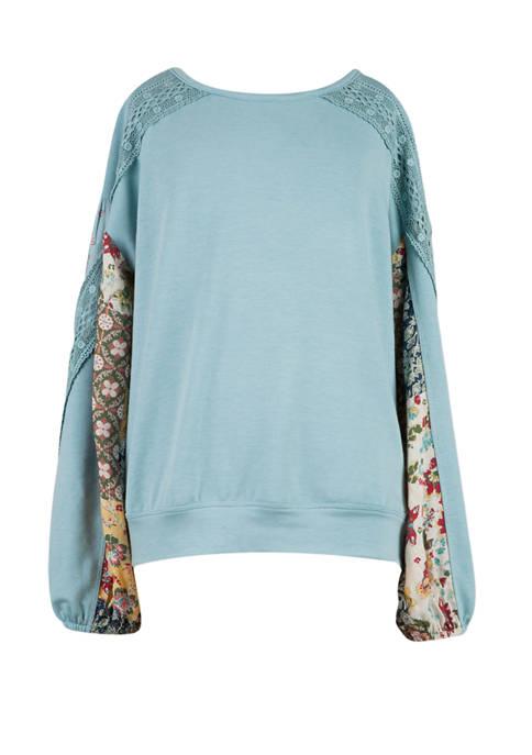 Girls 7-16 Blouson Sleeve Shirt