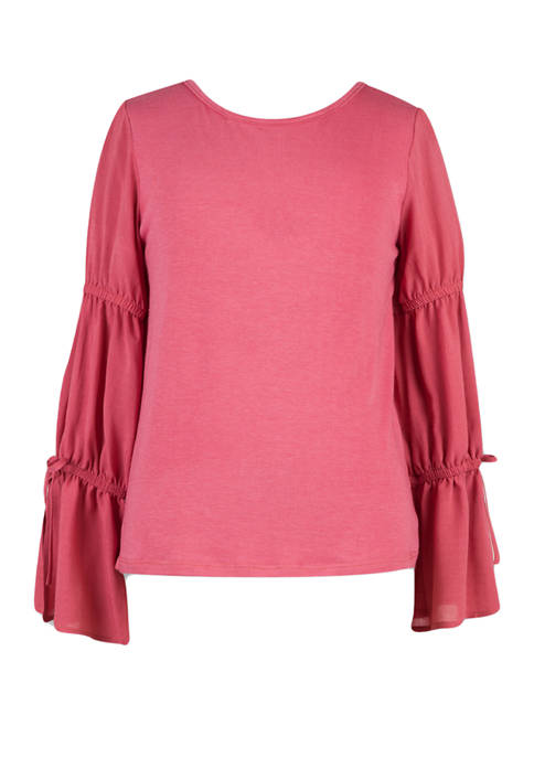 Girls 7-14 Bell Sleeve Top