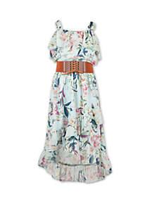 Speechless Girls 7-16 Ruffle Floral High Low Dress