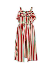 Speechless Girls 7-16 Multi Stripe Walk Through Dress